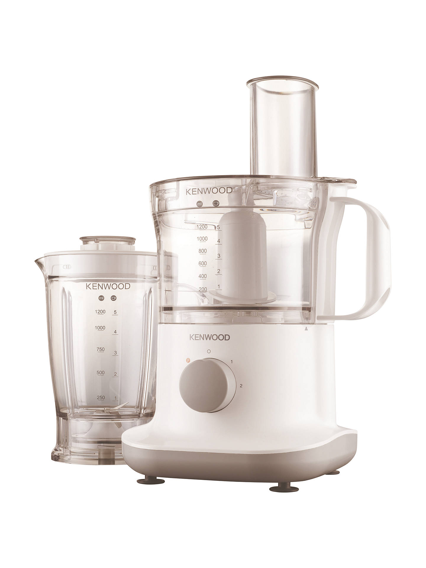 Kenwood FPP220 Multipro Compact Food Processor, White at John Lewis & Partners