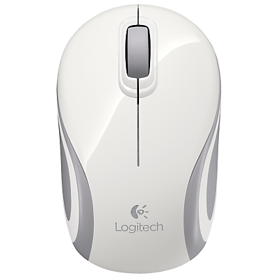 Logitech M187 Mini Wireless Mouse, White