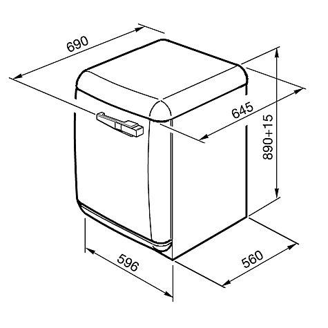Buy Smeg WMFABP1 Slim Depth Freestanding Washing Machine