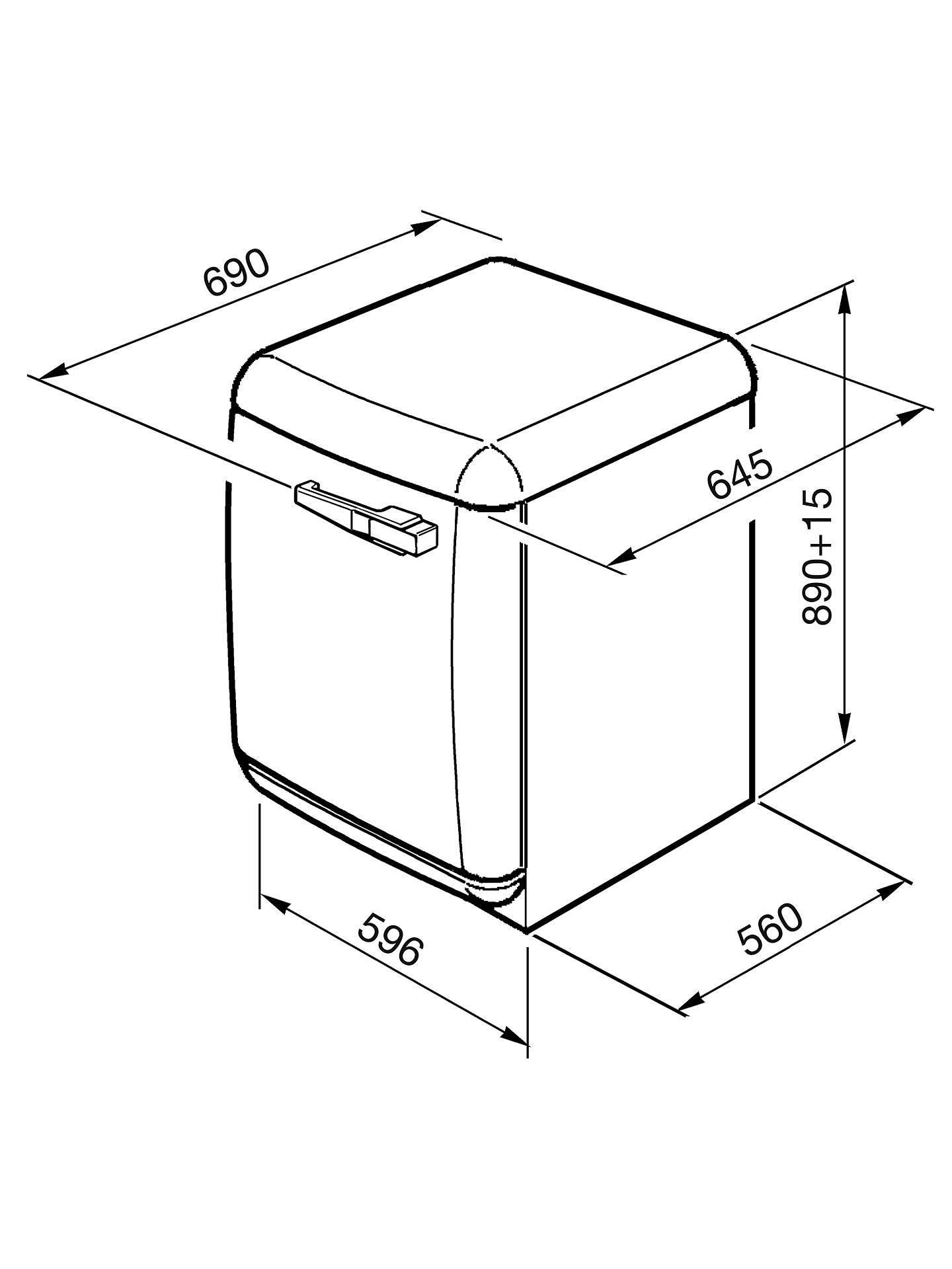 Smeg WMFABAZ1 Slim Depth Freestanding Washing Machine, 7kg