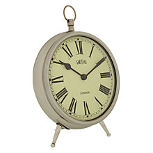 Buy Lascelles Smiths Mantel Clock, Chrome, Large Online at johnlewis.com
