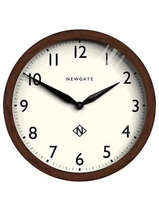 Newgate Wimbledon Wooden Wall Clock, Dia.45cm, Brown