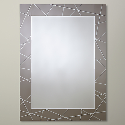 John Lewis Engraved Mirror, 102 x 76cm, Smoke
