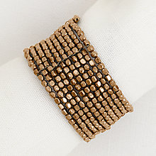 Buy John Lewis Bead Napkin Ring, Set of 4, Gold Online at johnlewis.com