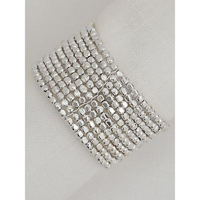 John Lewis Bead Napkin Ring, Set of 4, Silver