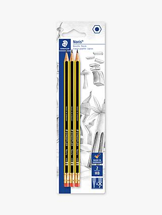 STAEDTLER Noris HB Pencils, Pack of 3