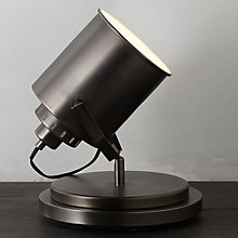 Buy John Lewis Avery Flood Lamp, Antique Chrome Online at johnlewis.com