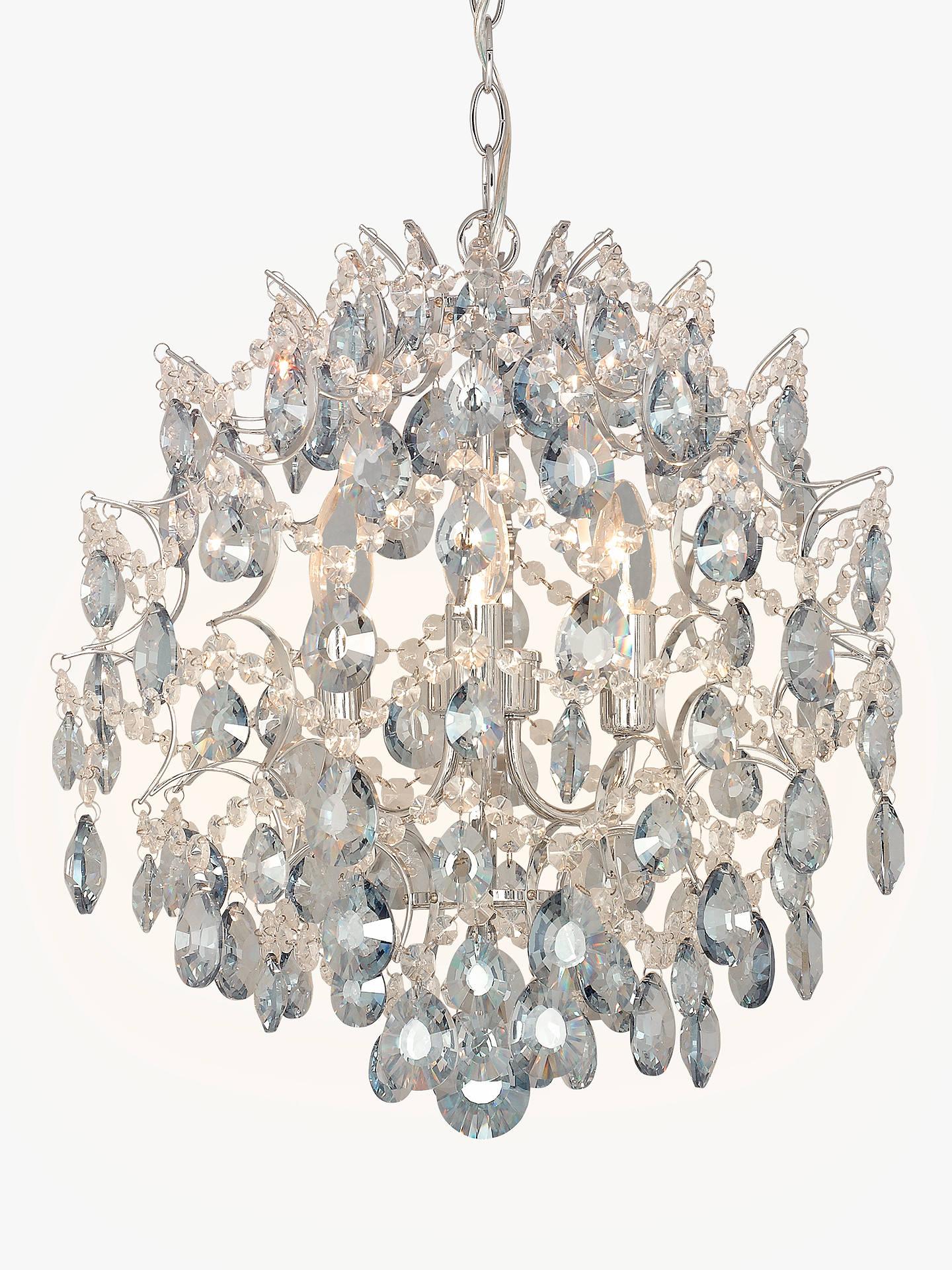 John Lewis Partners Baroque Crystal Chandelier Ceiling Light Clear Blue