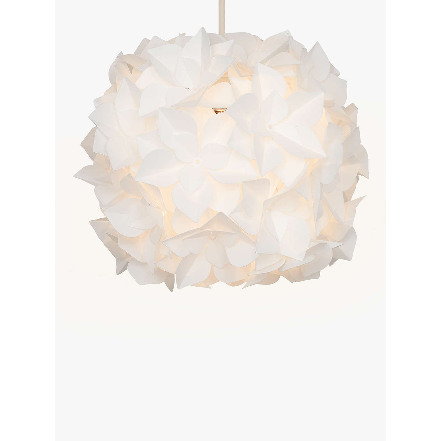 John Lewis Lotus Easy To Fit Flower Pendant Shade At John Lewis