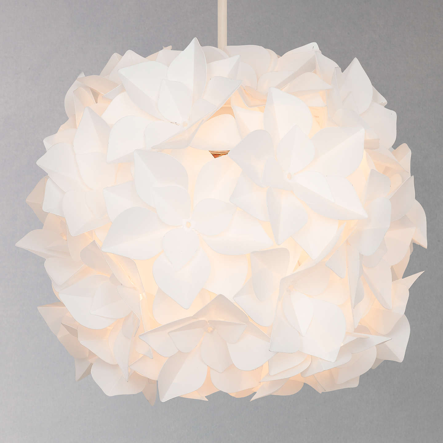 John Lewis Lotus Easy To Fit Flower Pendant Shade At John