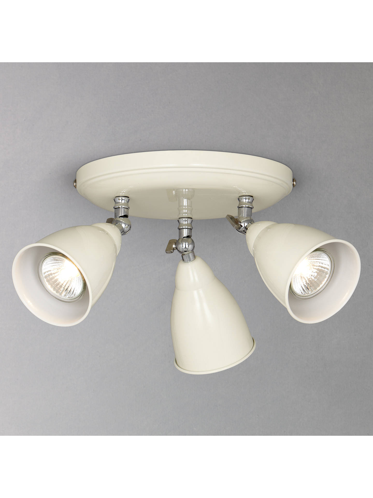 Buy John Lewis & Partners Plymouth 3 Spotlights, Ivory Online at johnlewis.com