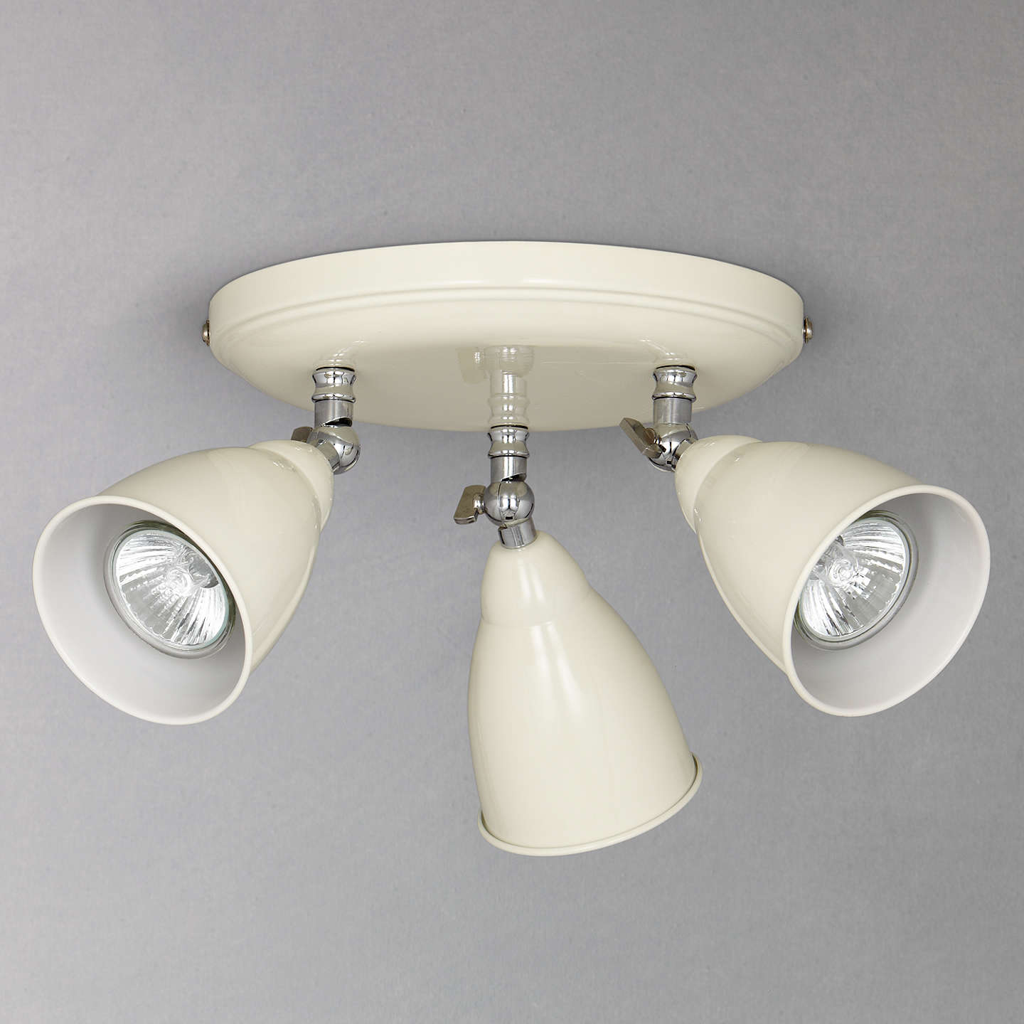 John lewis plymouth 3 led spotlight ceiling plate at john lewis buyjohn lewis plymouth 3 led spotlight ceiling plate ivory online at johnlewis aloadofball Images
