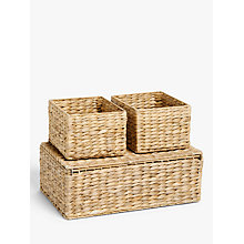 Buy John Lewis Water Hyacinth Storage Baskets, Set of 3 Online at johnlewis.com