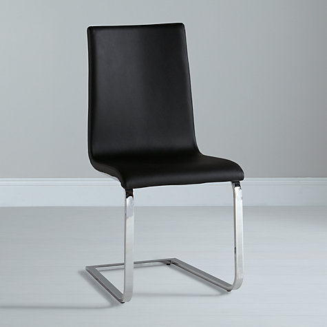 Buy John Lewis Frost Leather Dining Chair, Beige Online at johnlewis.com