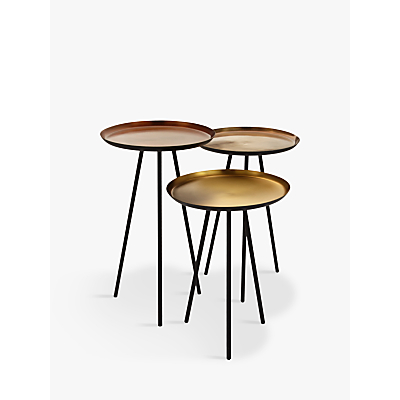 Content by Terence Conran Accents Round Side Tables, Set of 3, Bronze