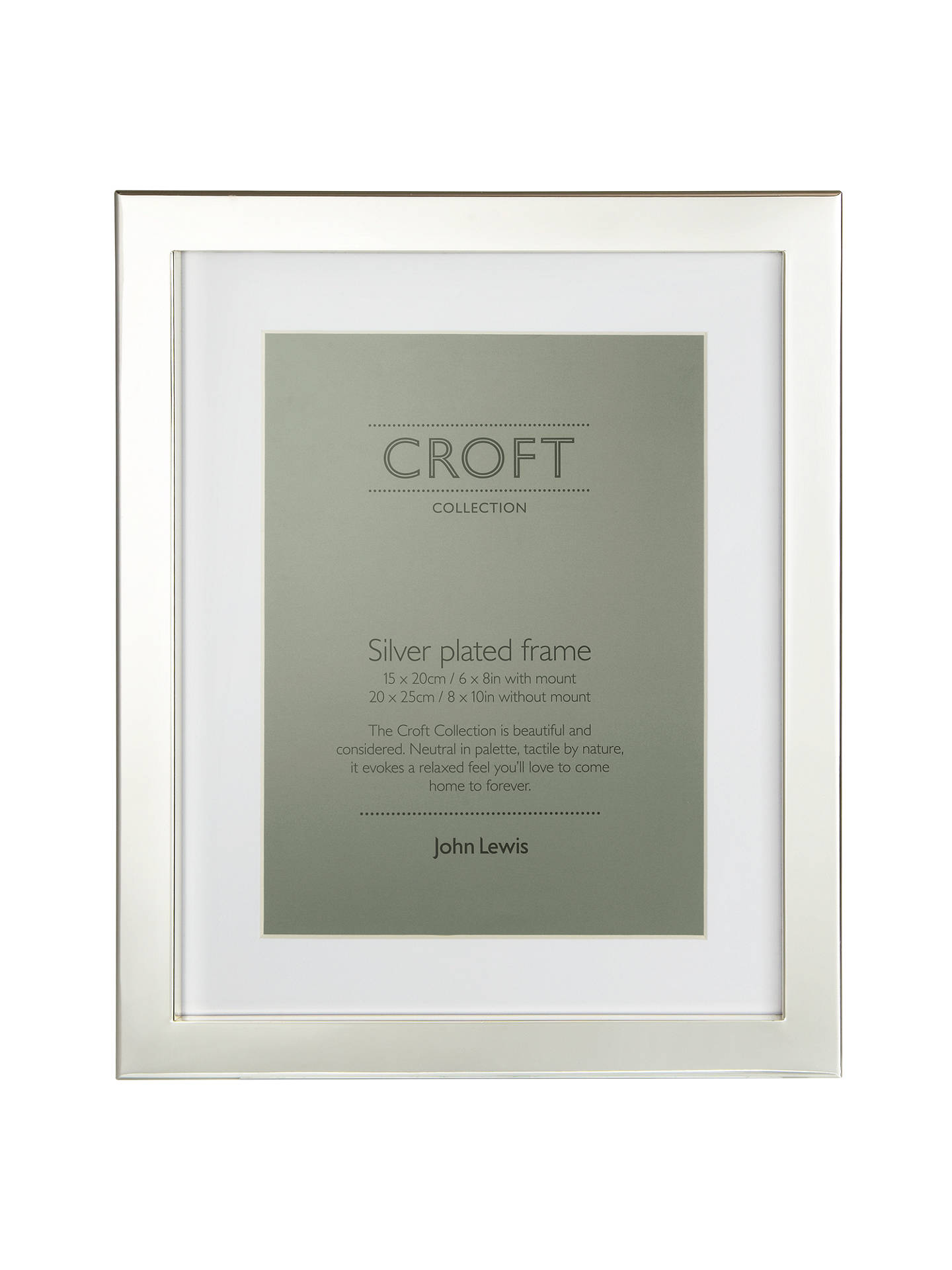 Croft Collection Silver Plated Box Photo Frame 6 X 8 15 X 20cm