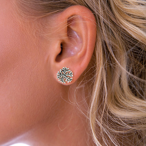 Buy Nina B Snowflake Stud Earrings, Silver Online at johnlewis.com
