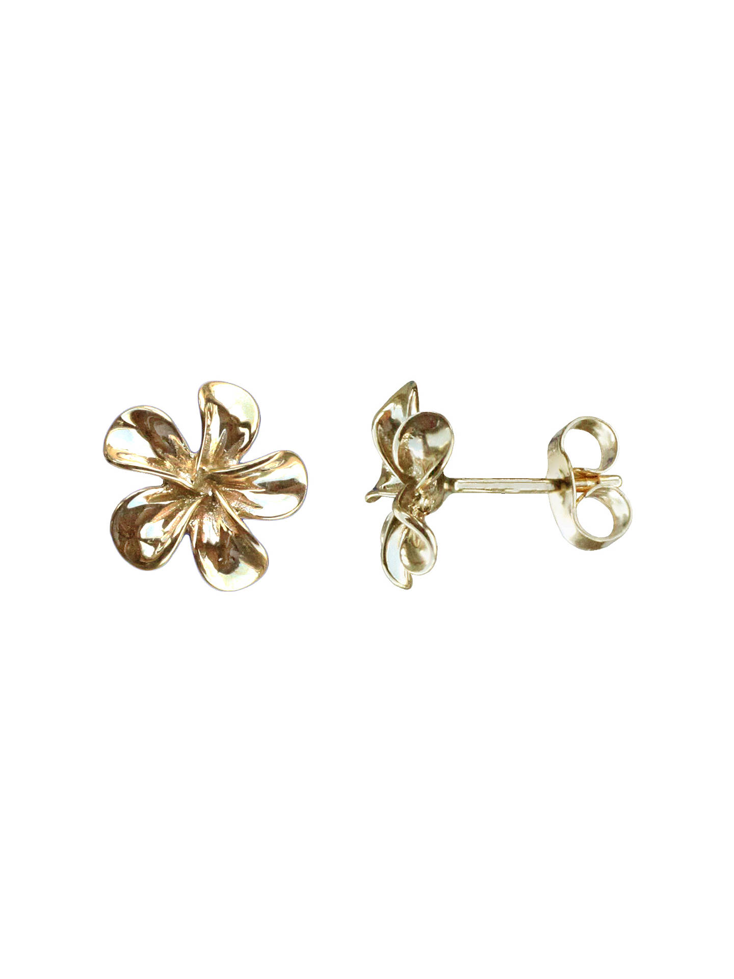 86d9ad5a1 Buy Nina B 9ct Yellow Gold Flower Stud Earrings, Gold Online at  johnlewis.com ...