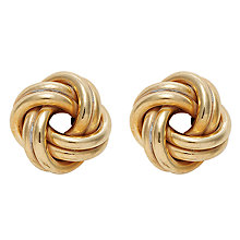 Buy Nina Breddal 9ct Yellow Gold Knot Stud Earrings, Gold Online at johnlewis.com