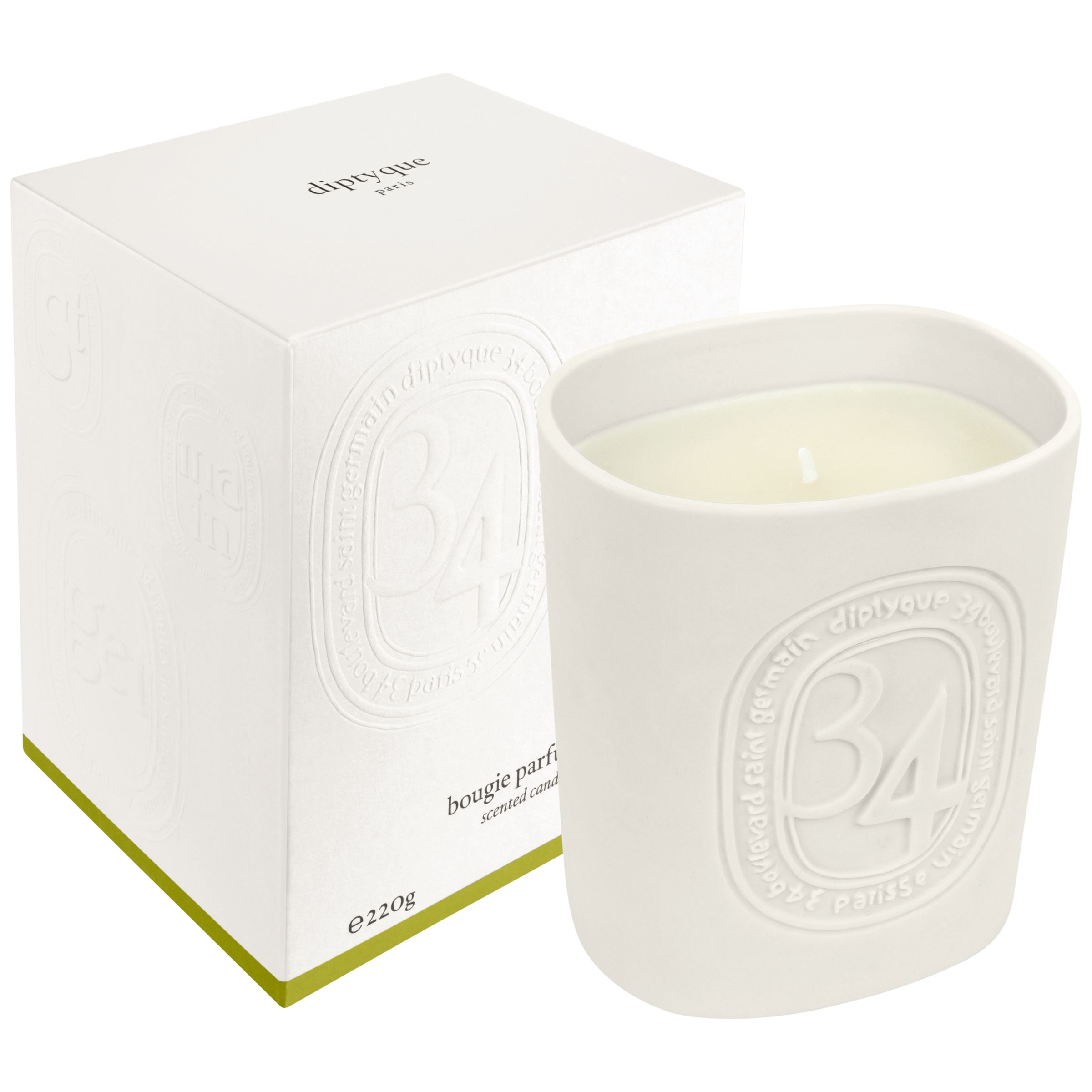 Diptyque Diptyque 34 Boulevard Saint Germain Scented Candle, 220g