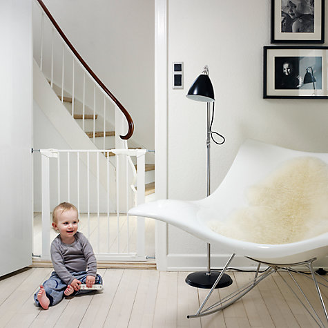 Buy BabyDan Premier True Pressure Baby Gate and Additional Extension Pack, White Online at johnlewis.com