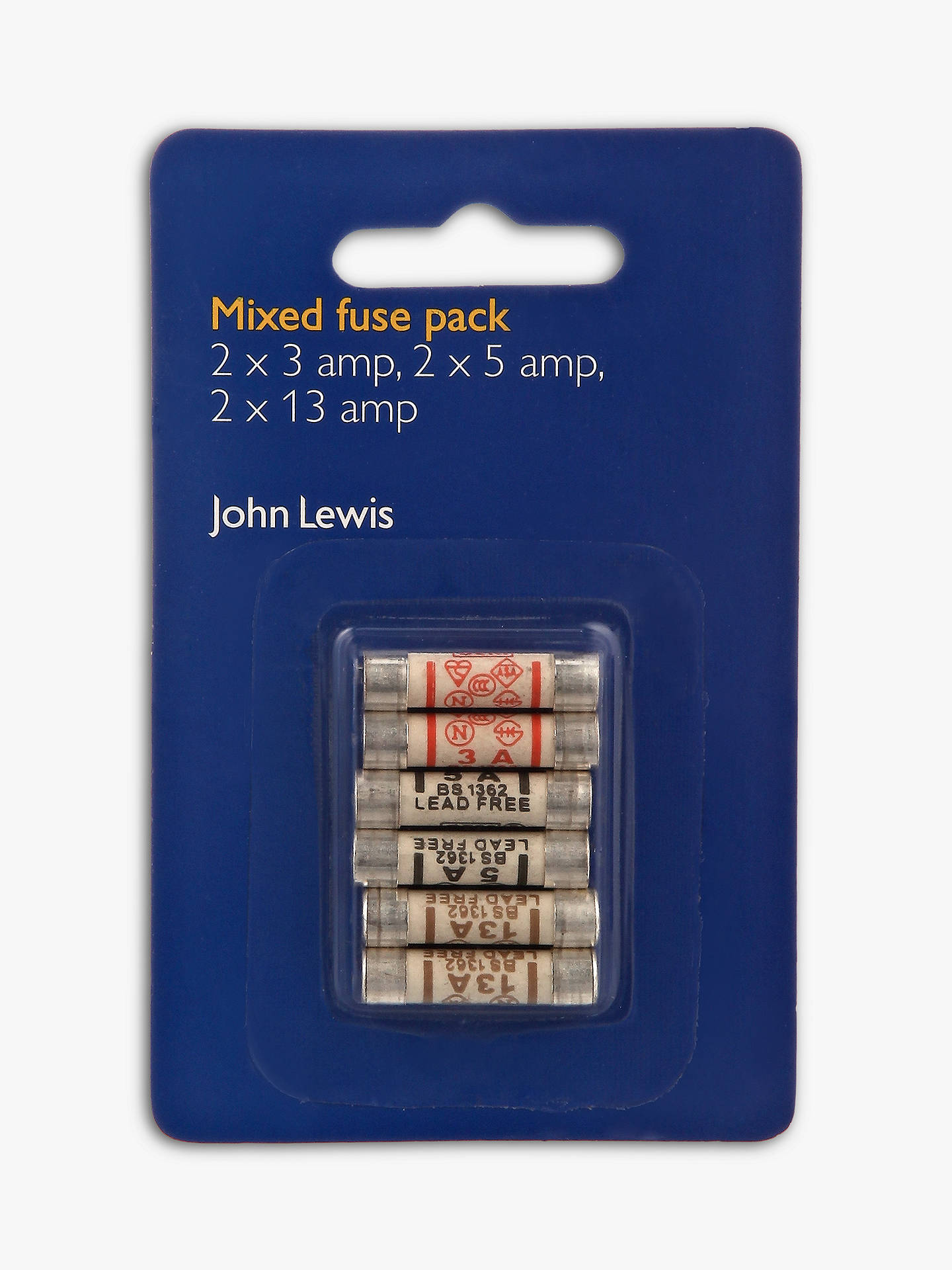 Buy John Lewis & Partners Mixed Fuses Pack, Pack of 6 Online at johnlewis.com