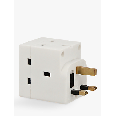 Image of John Lewis 3 Way Adaptor, 13 Amp