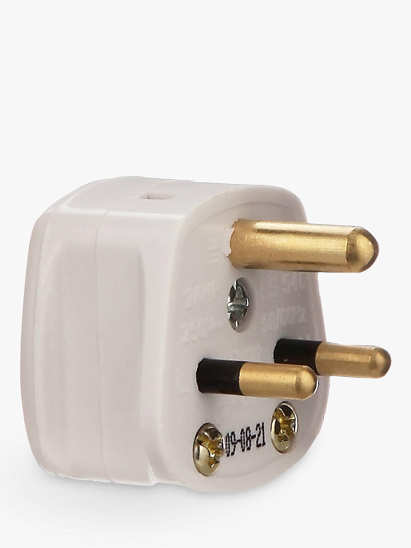 Buy John Lewis & Partners 3-Roundpin Plug, 2 Amp Online at johnlewis.com