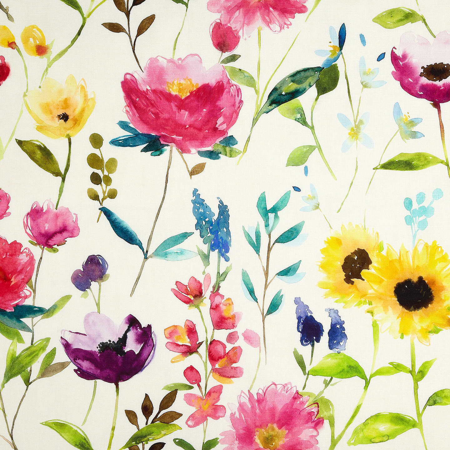 Buybluebellgray Flower Field Furnishing Fabric, Ecru Online at johnlewis.com