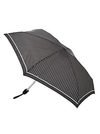 Fulton Tiny-2 Classics Compact Folding Umbrella, Black/White