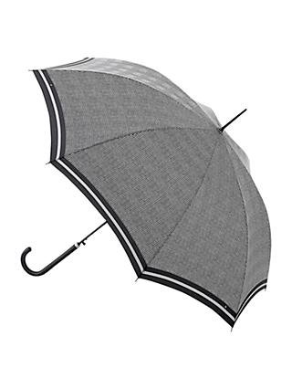 Fulton Riva Prince of Wales Check Walking Umbrella, Black