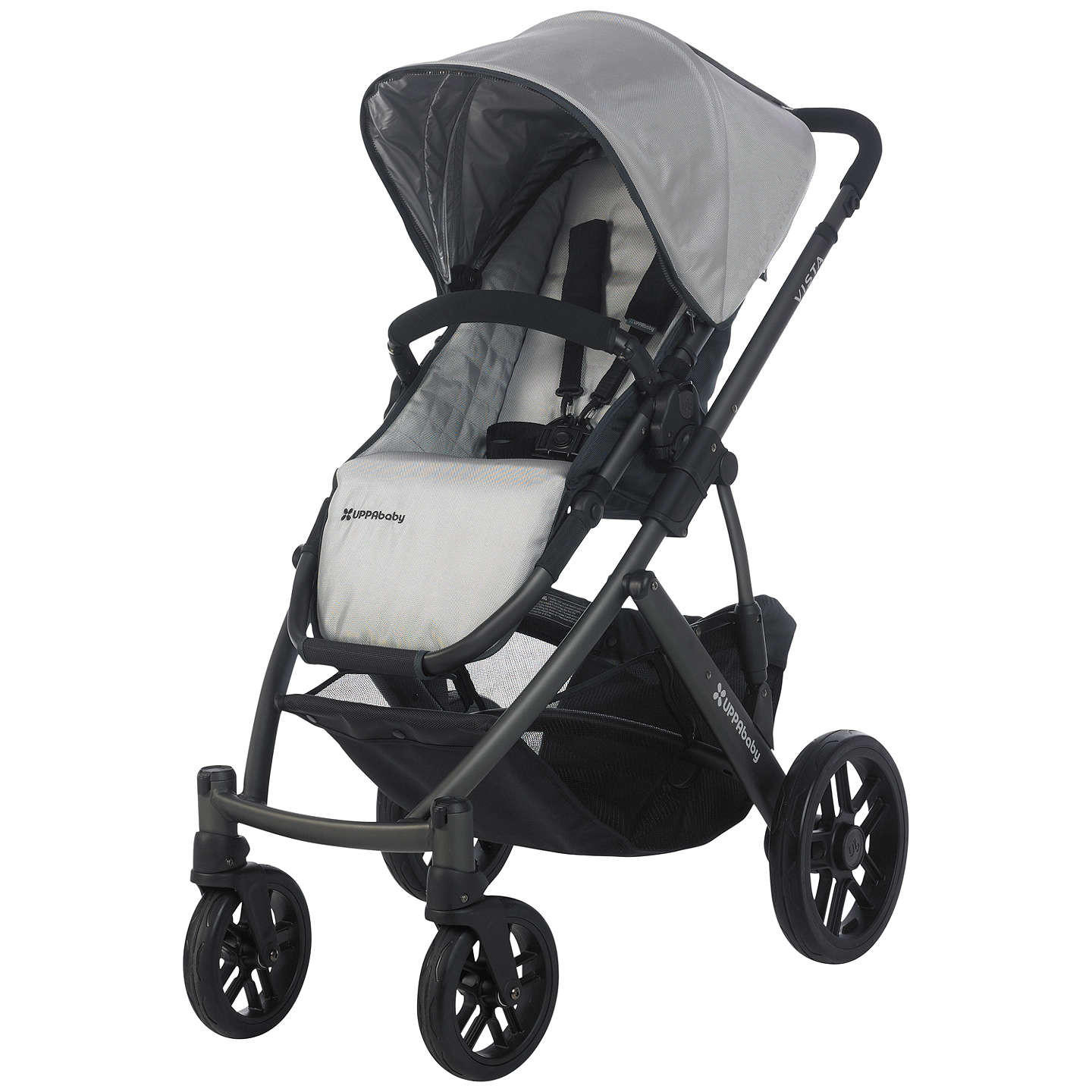 BuyUppababy Vista Pushchair, Mica Silver Online at johnlewis.com
