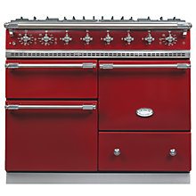 Buy Lacanche Macon LG1053GE Dual Fuel Range Cooker, Burgundy / Chrome Trim Online at johnlewis.com