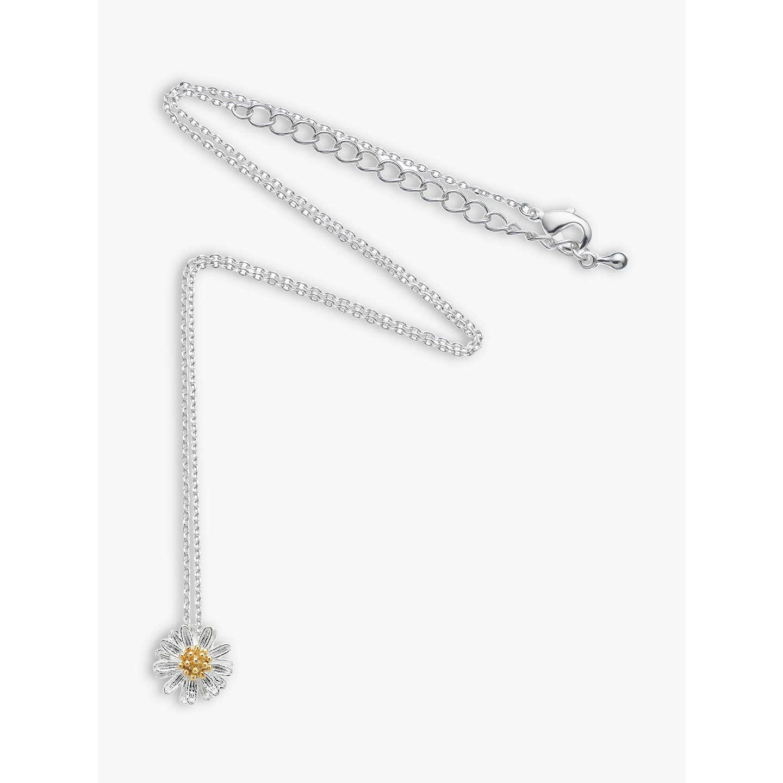 Ruby Wedding Gifts John Lewis: Estella Bartlett Daisy Flower Pendant Necklace, Silver At
