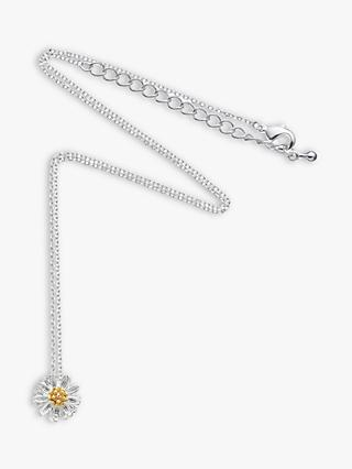 Estella Bartlett Daisy Flower Pendant Necklace, Silver