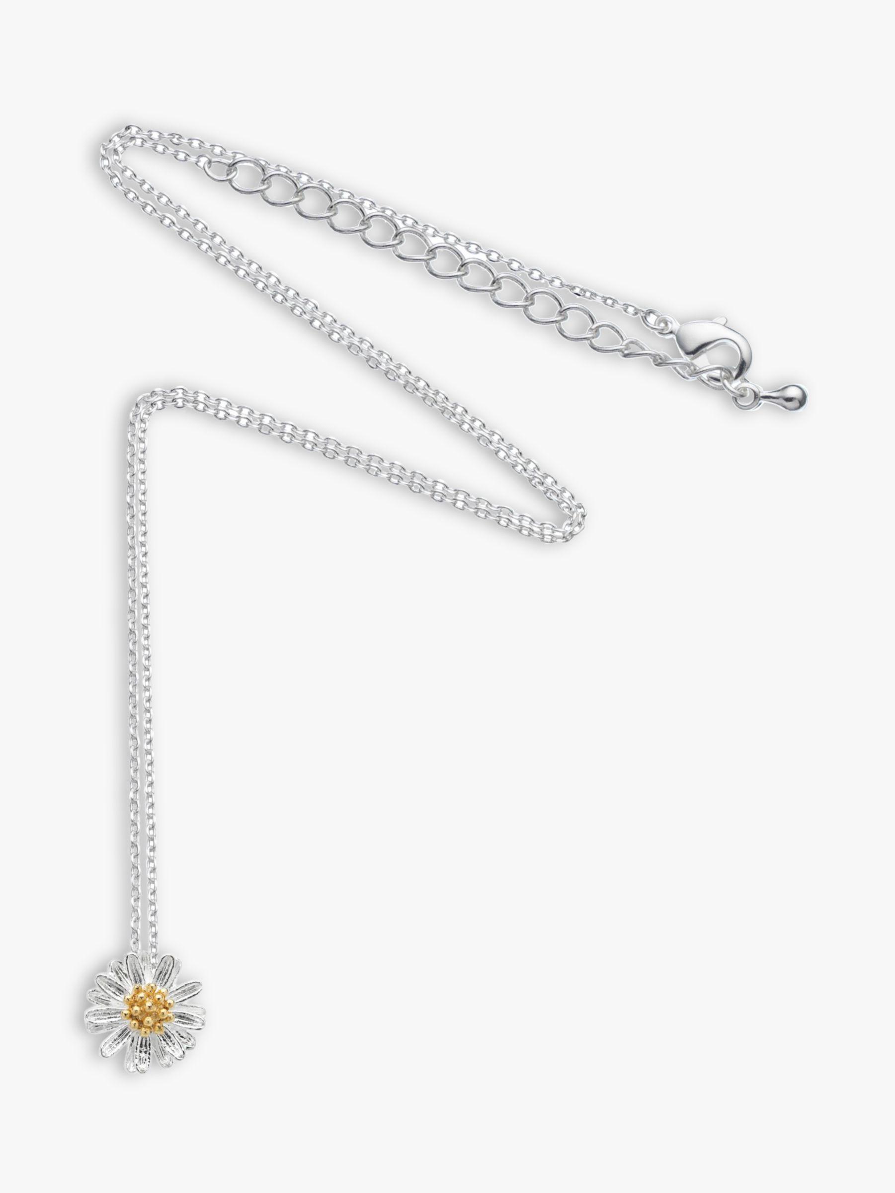 Estella Bartlett Estella Bartlett Daisy Flower Pendant Necklace, Silver