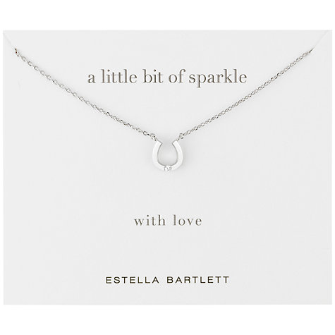 Buy Estella Bartlett Diamanté Horseshoe Necklace, Silver Online at johnlewis.com