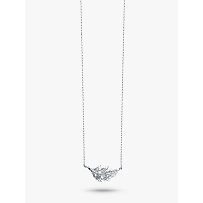 Estella Bartlett Feather Pendant Necklace, Silver