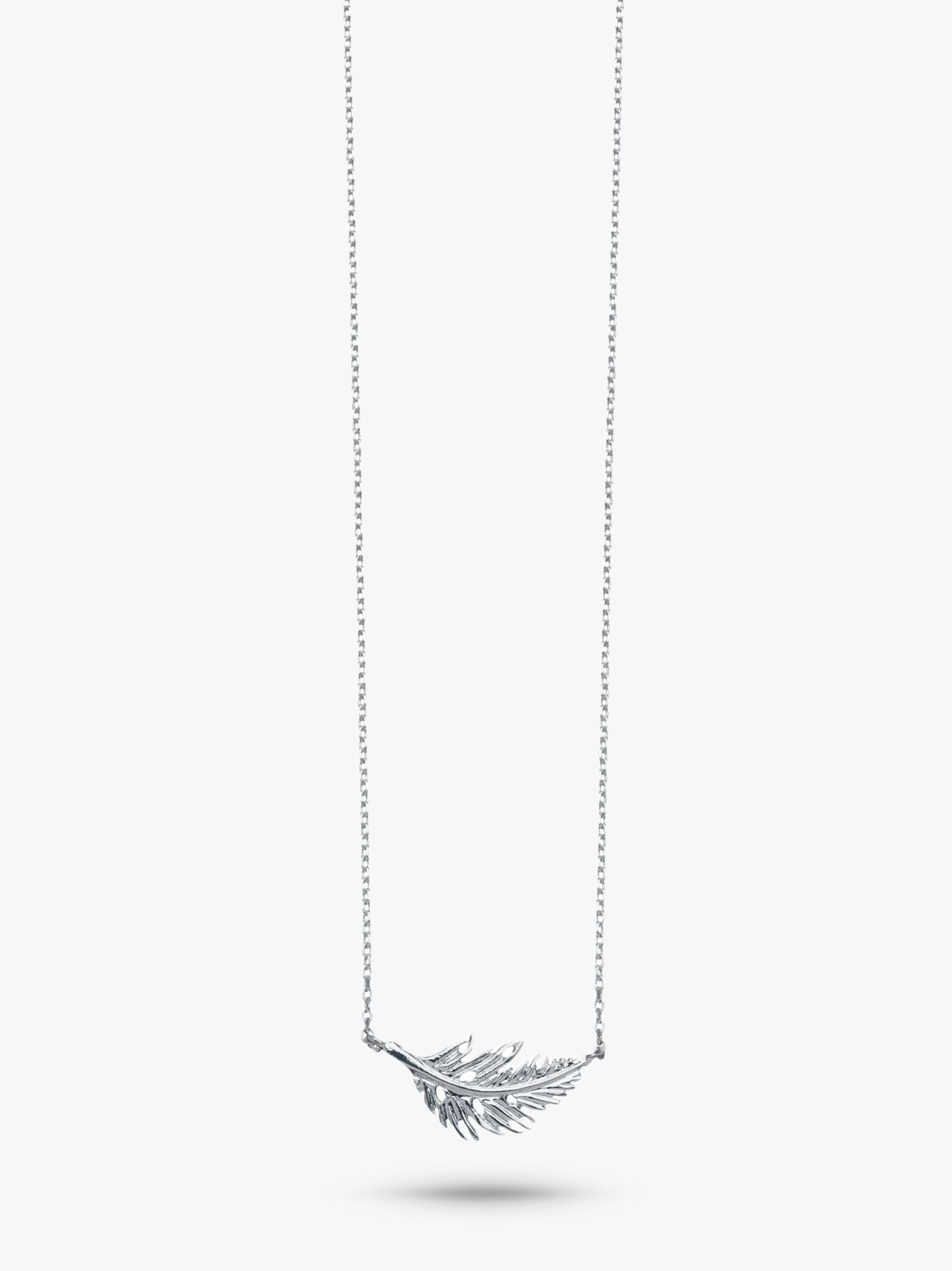 Estella Bartlett Estella Bartlett Feather Pendant Necklace, Silver
