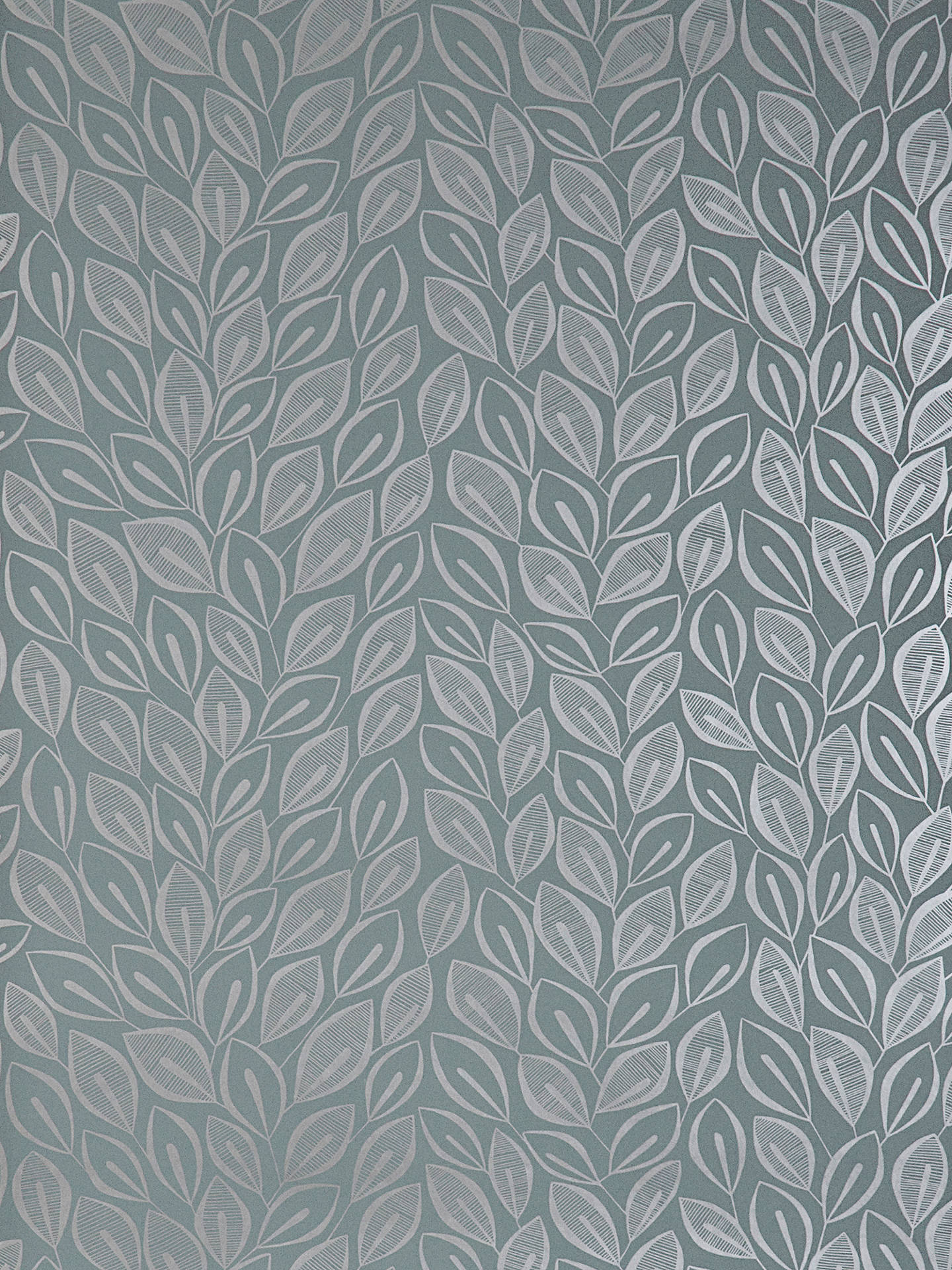 Buy MissPrint Leaves Wallpaper, Graphite, MISP1029 Online at johnlewis.com