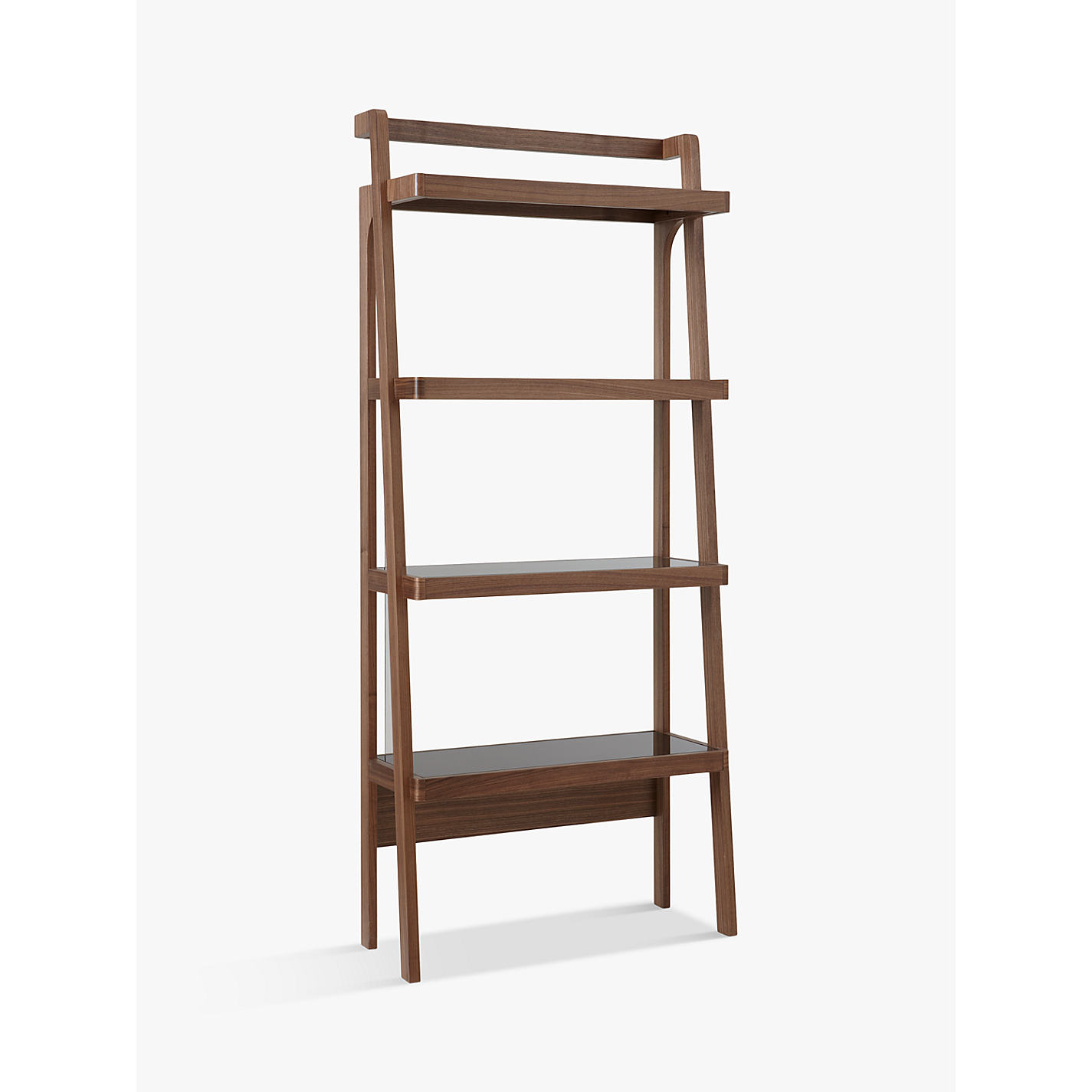 buy john lewis gazelle bookcase walnut  john lewis - buy john lewis gazelle bookcase walnut online at johnlewiscom