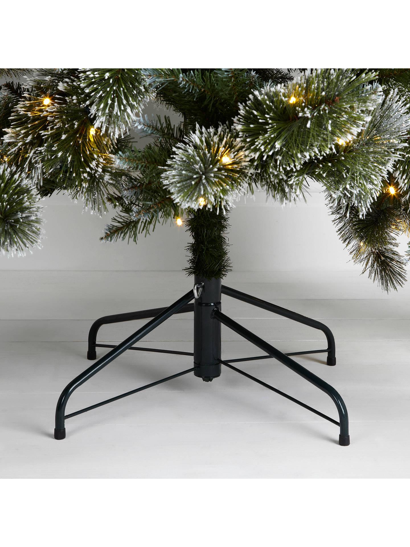 John Lewis Pre-lit LED Glitter Tip Christmas Tree, Green, 7ft at John Lewis & Partners