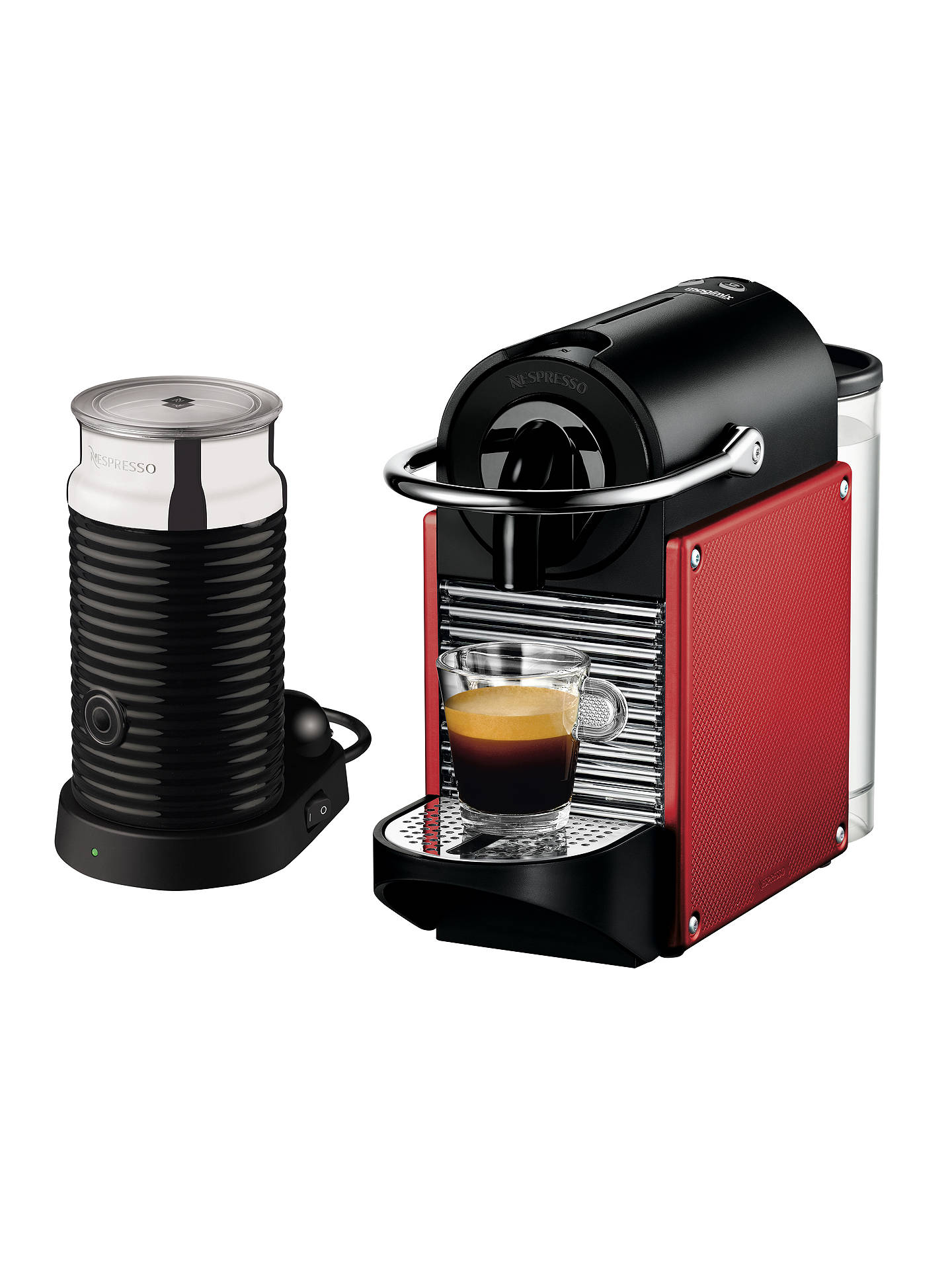 Nespresso Pixie Carmin Coffee Maker And Aeroccino By Magimix Red At