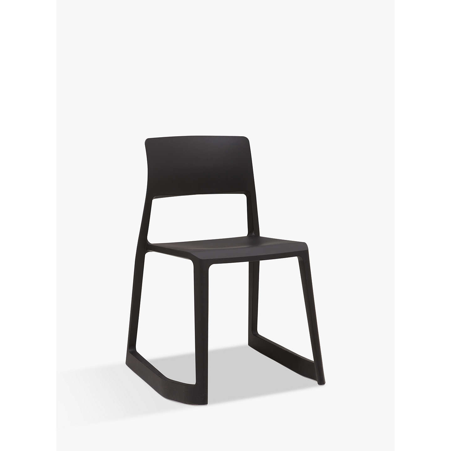 vitra tip ton chair black at john lewis. Black Bedroom Furniture Sets. Home Design Ideas