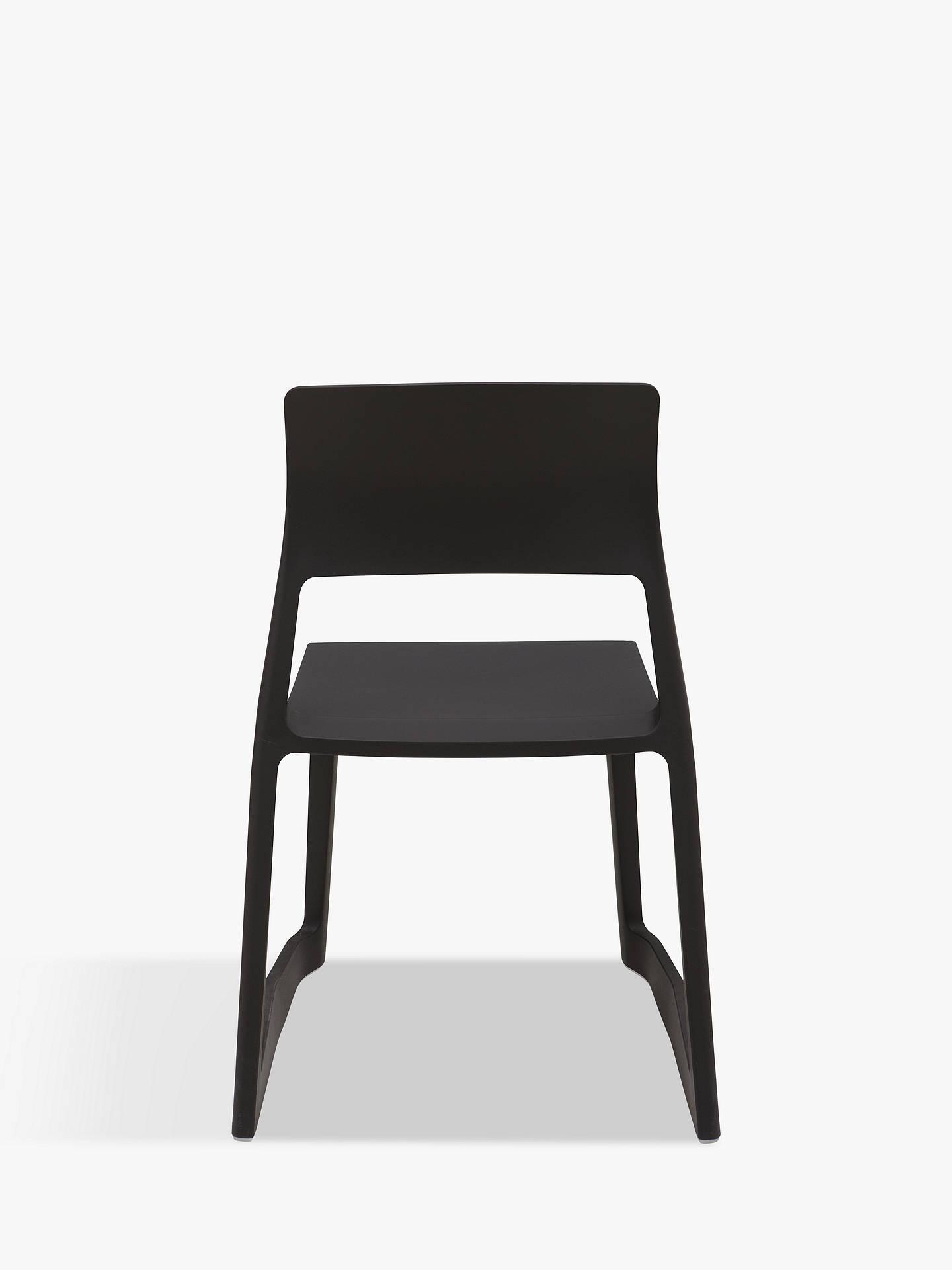 vitra tip ton chair black at john lewis partners. Black Bedroom Furniture Sets. Home Design Ideas