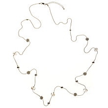 Buy John Lewis Facet Acryic Bead and Coil Bead Long Necklace, Silver Online at johnlewis.com