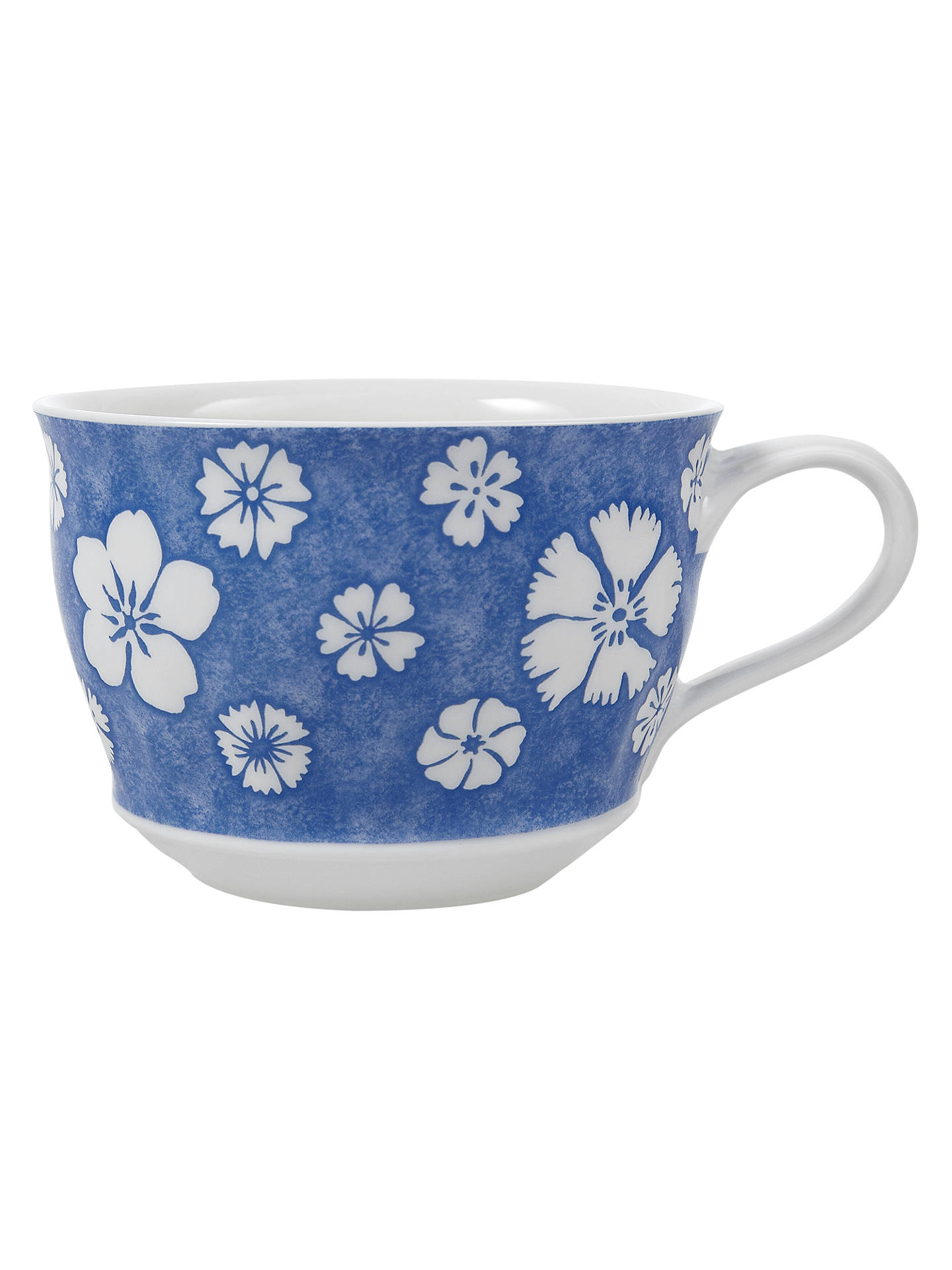 Villeroy & Boch Farmhouse Touch Breakfast Cup,0.4L, Blue/White at ...