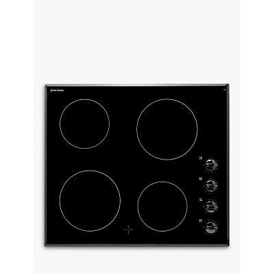 Image of John Lewis & Partners JLBICH601 Ceramic Hob, Black