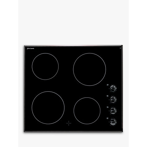 Buy John Lewis JLBICH601 Ceramic Hob, Black Online at johnlewis.com