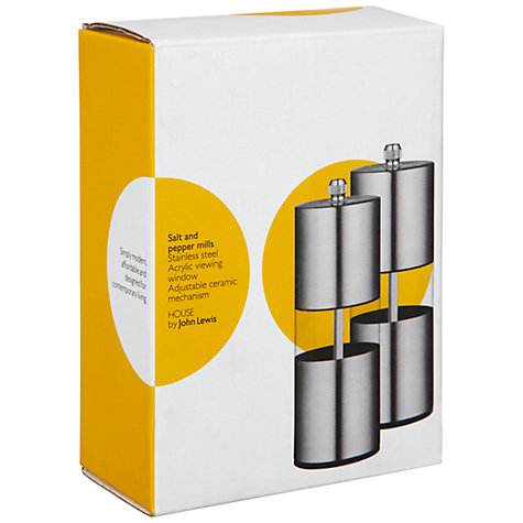 Buy House by John Lewis Stainless Steel Salt & Pepper Set Online at johnlewis.com